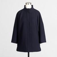 Wool three-quarter-sleeve coat