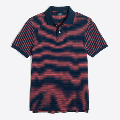 Slim striped piqué polo shirt