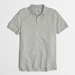 Factory slim striped piqué polo shirt