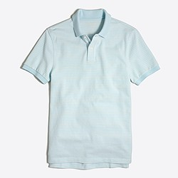 Slim striped piqué polo shirt