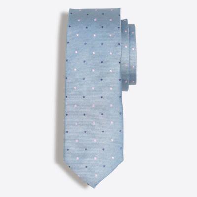 Multidot silk tie factorymen ties & pocket squares c