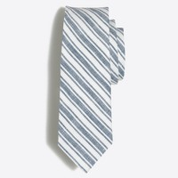 Striped linen tie