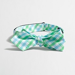 Factory washed bow tie