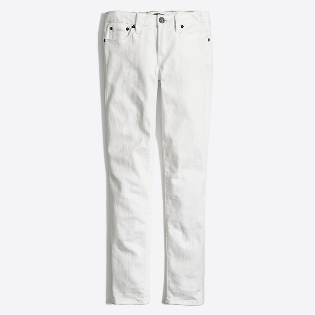 "White skinny jean with 28"" inseam"