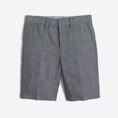 Boys' Thompson suit short in slub linen