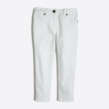 Girls' skinny jean in white