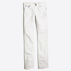 "Factory white straight and narrow jean with 29"" inseam"