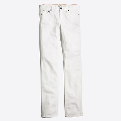 "White straight and narrow jean with 31"" inseam"