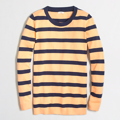 Block-striped tunic sweater