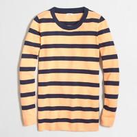 Block-striped tunic sweater
