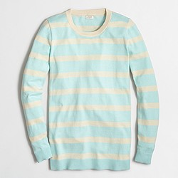 Factory block-striped tunic sweater