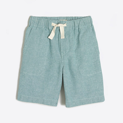 Boys' linen-cotton pull-on short