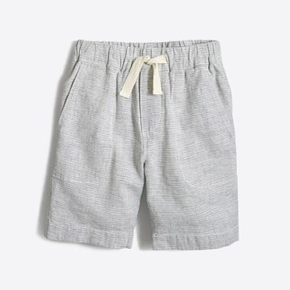 Boys' linen-cotton pull-on short