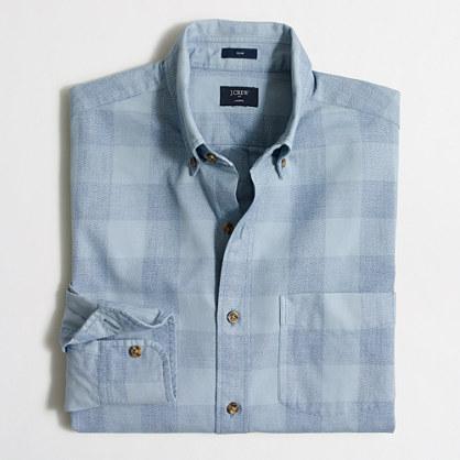 Slim lightweight jaspé shirt
