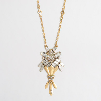 Crystal bouquet pendant necklace