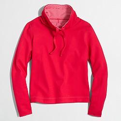 Factory reversible tunnelneck pullover sweatshirt
