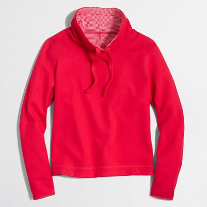 Reversible tunnelneck pullover sweatshirt