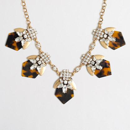 Tortoise points necklace