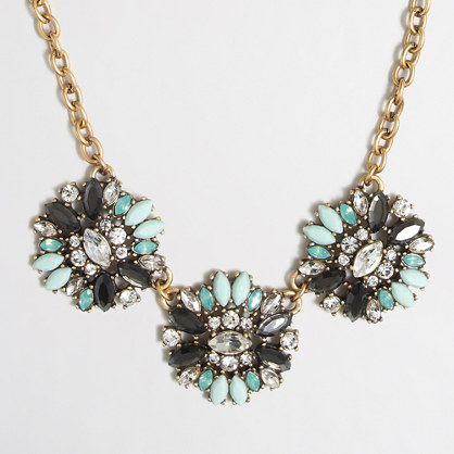 Jeweled medallions necklace