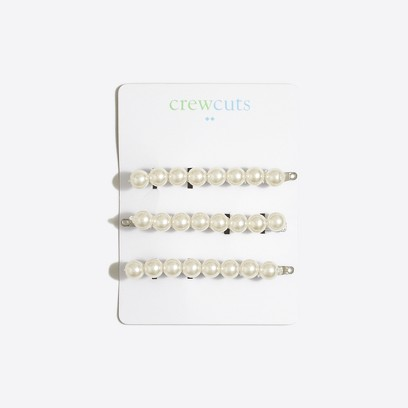 Girls Pearly Bobby Pins Three Pack Factorygirls Jewelry Accessories C