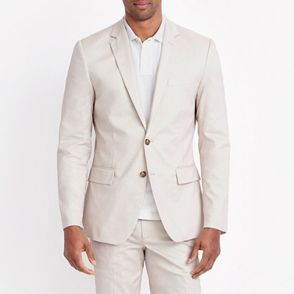 Thompson suit jacket in flex cotton