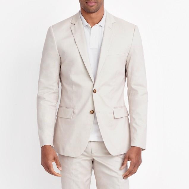 Thompson suit jacket in flex cotton