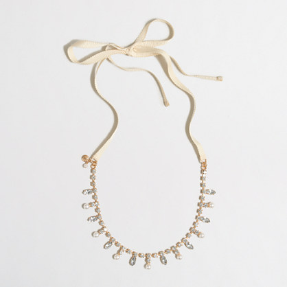 Girls' pearl drop necklace