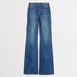 Factory daisy wash flare jean
