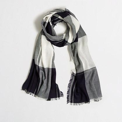 Plaid Lurex® thread scarf