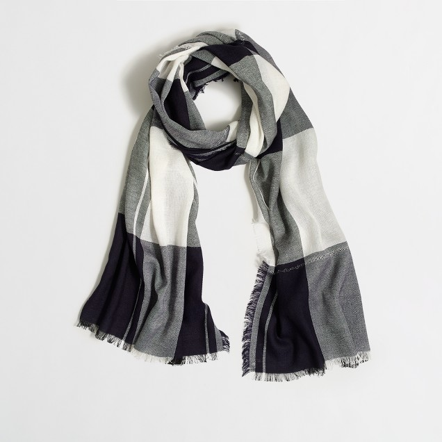 Plaid Lurex® thread scarf