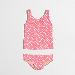 Factory girls' tankini set in hearts
