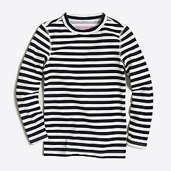 Girls' striped rash guard