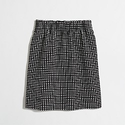 Factory dot jacquard mini skirt