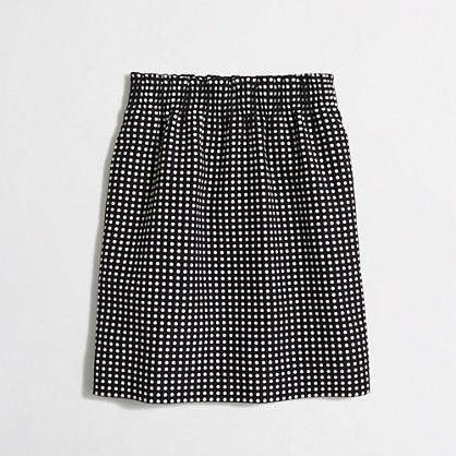 Dot jacquard mini skirt