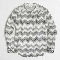 Zigzag clip-dot blouse