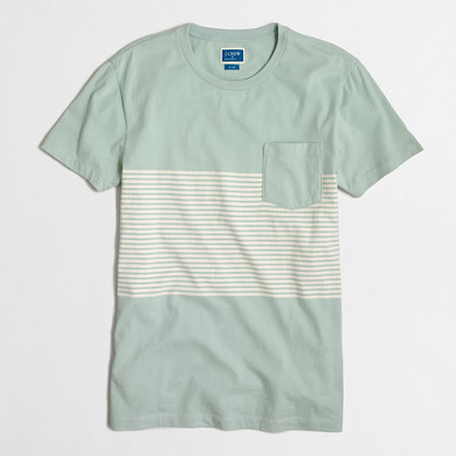 Slim placed-stripe T-shirt
