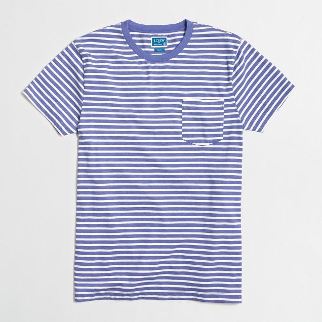 Slim microstriped T-shirt