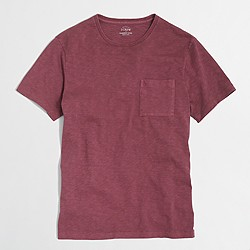 Factory sunwashed garment-dyed T-shirt