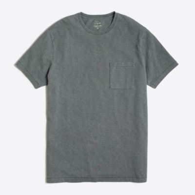 Slim sunwashed garment-dyed T-shirt factorymen slim c