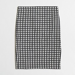 Factory pencil skirt in grid print