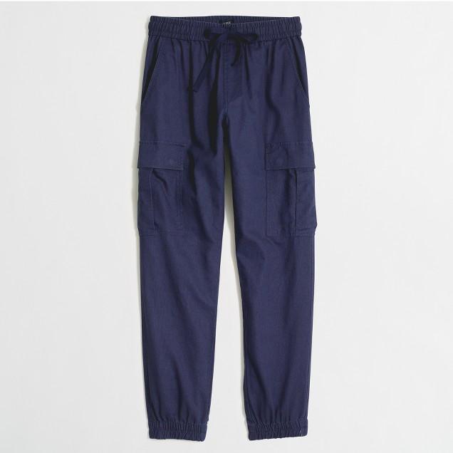 Linen-cotton cargo jogger pant