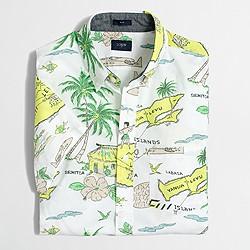 Factory slim short-sleeve printed shirt