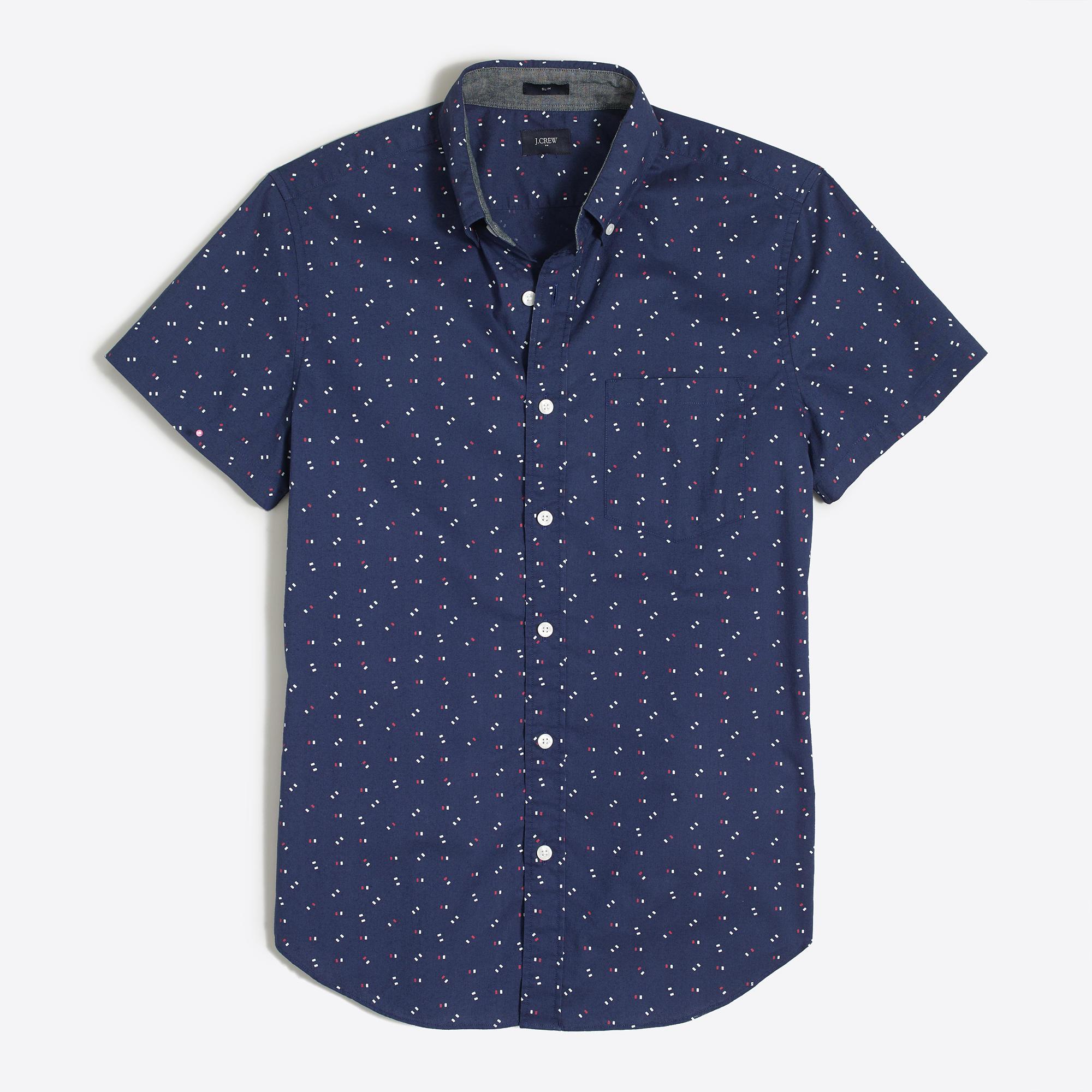 Men's Short-sleeve Shirts | J.Crew Factory - Short Sleeve