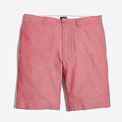 "Factory 9"" red chambray Gramercy short"