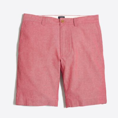 "9"" red chambray Gramercy short factorymen shorts c"