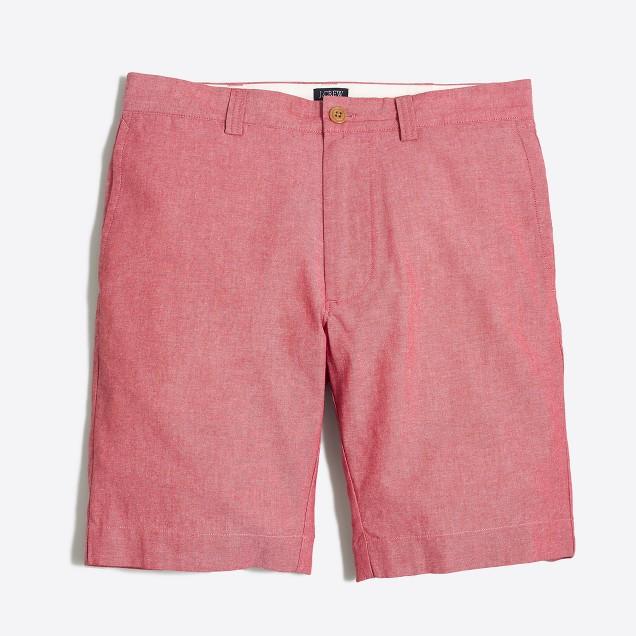 "9"" red chambray Gramercy short"