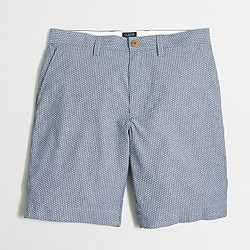 "Factory 9"" dotted chambray Gramercy short"