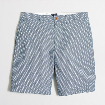 "9"" dotted chambray Gramercy short"