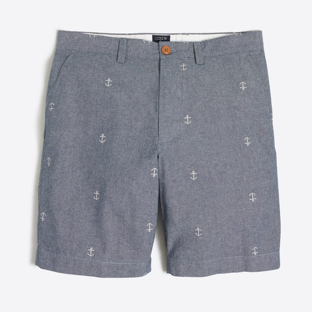 "9"" printed chambray Gramercy short"