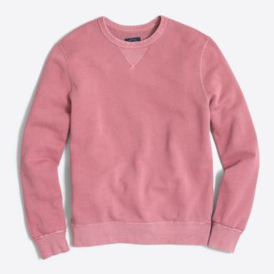 Sunwashed garment-dyed crewneck sweatshirt factorymen new arrivals c